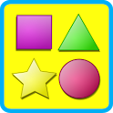 Shapes for kids flashcards icon