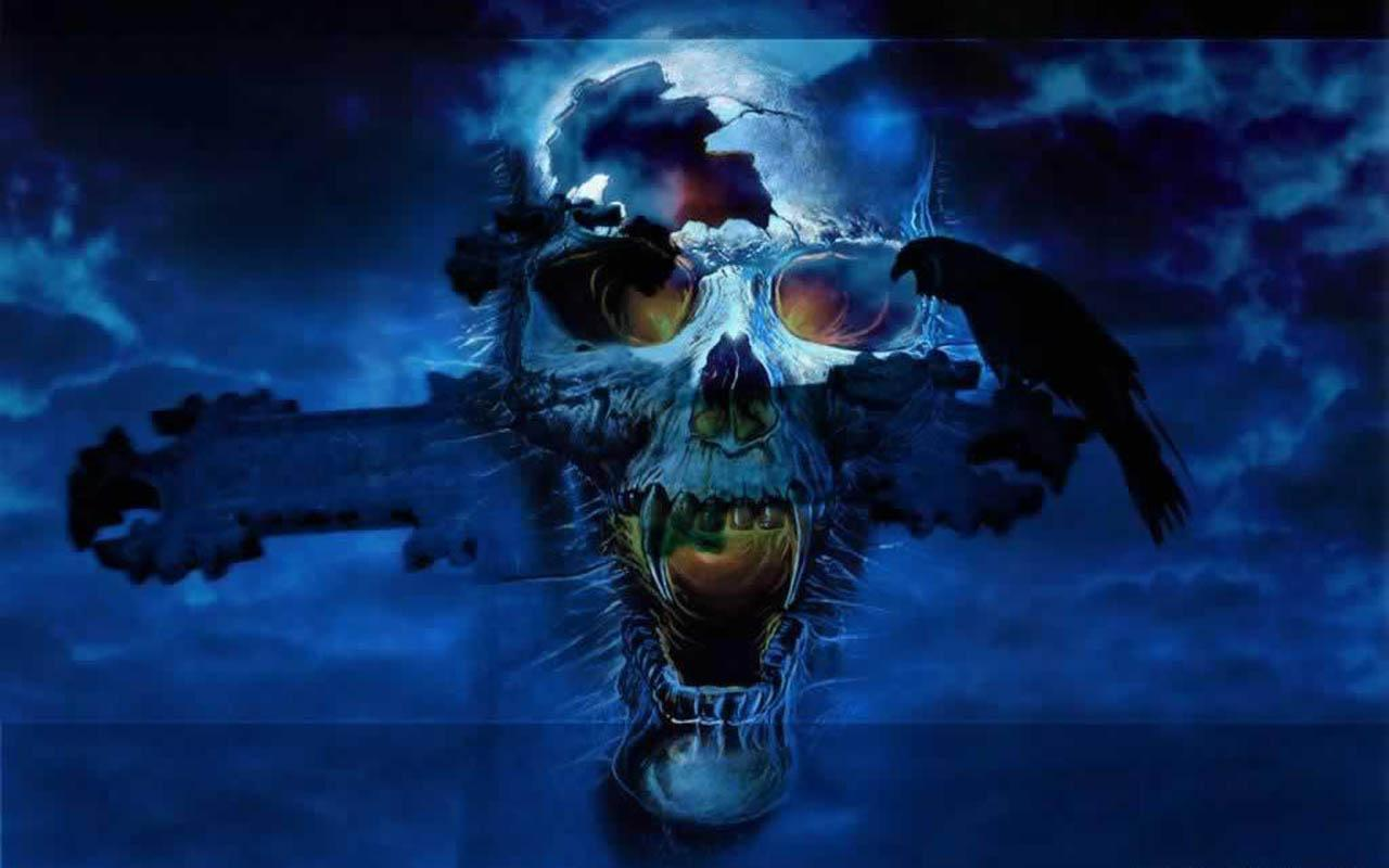 Horror wallpaper android apps on google play - Scary skull backgrounds ...