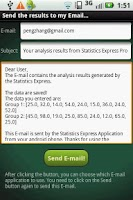 Screenshot of Statistics Express Pro