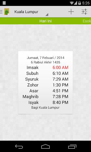 MySolat - Malaysia Prayer Time