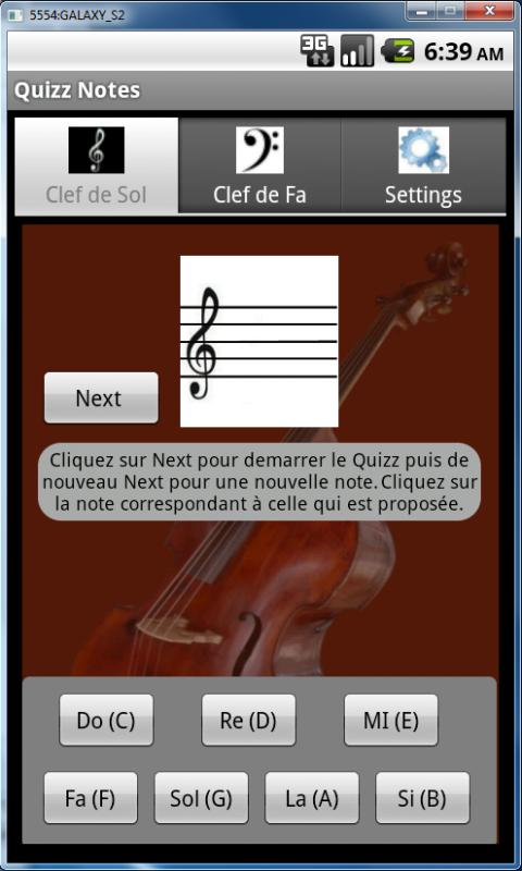 Quizz Notes G - screenshot