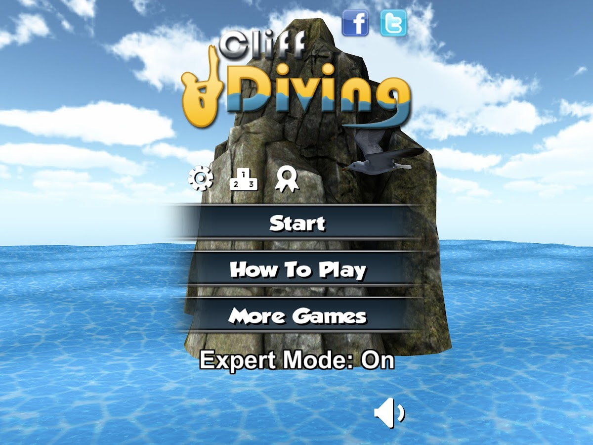 Cliff Diving 3D Free- screenshot