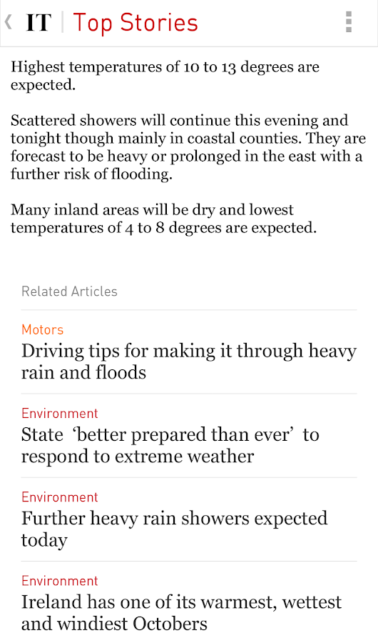 Irish Times News - screenshot