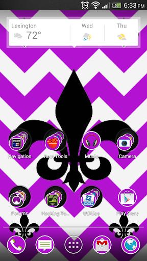 Fleur De Lis Purple Theme