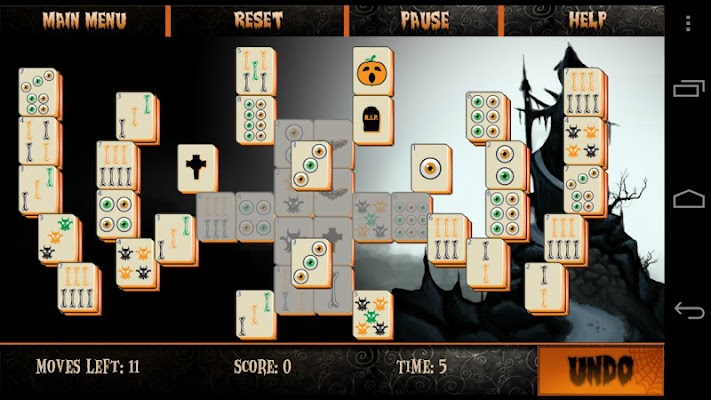 Mahjong Halloween - screenshot