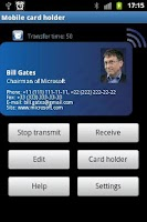 Screenshot of Share my Business card