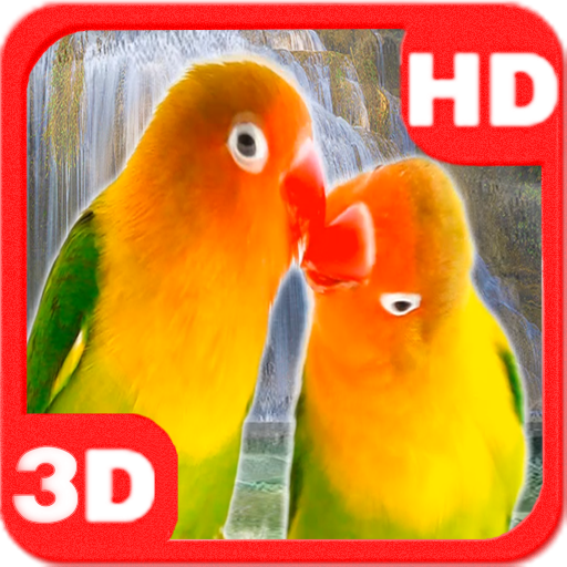 Lovebirds Parrots Waterfall app (apk) free download for Android/PC/Windows