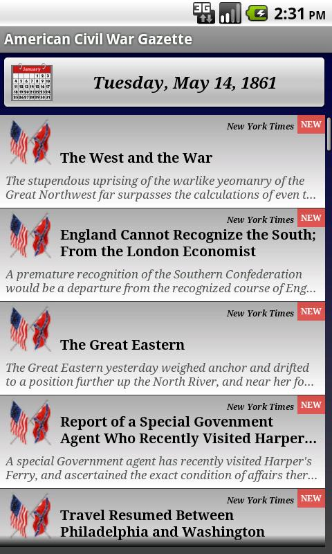 1863 Feb Am Civil War Gazette - screenshot