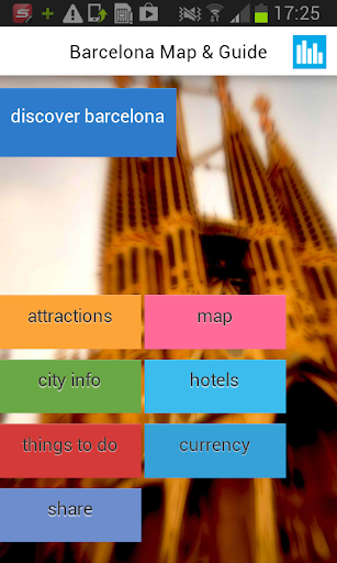 バルセロナオフラインマップ ガイド