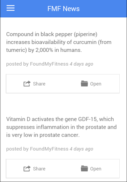 FoundMyFitness: Science FTW!- screenshot