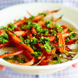 Honey Roasted Carrots with Red Onion Gremolata