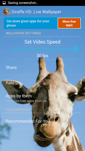 【免費個人化App】Giraffe HD. Live Wallpaper-APP點子