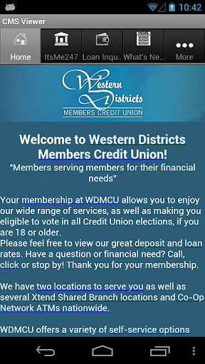Western Districts Members CU