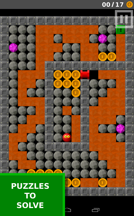 Worm Plex (Supaplex clone)- screenshot