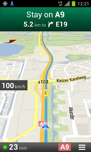 navigation speedometer ecco il tachimetro per google maps. Black Bedroom Furniture Sets. Home Design Ideas