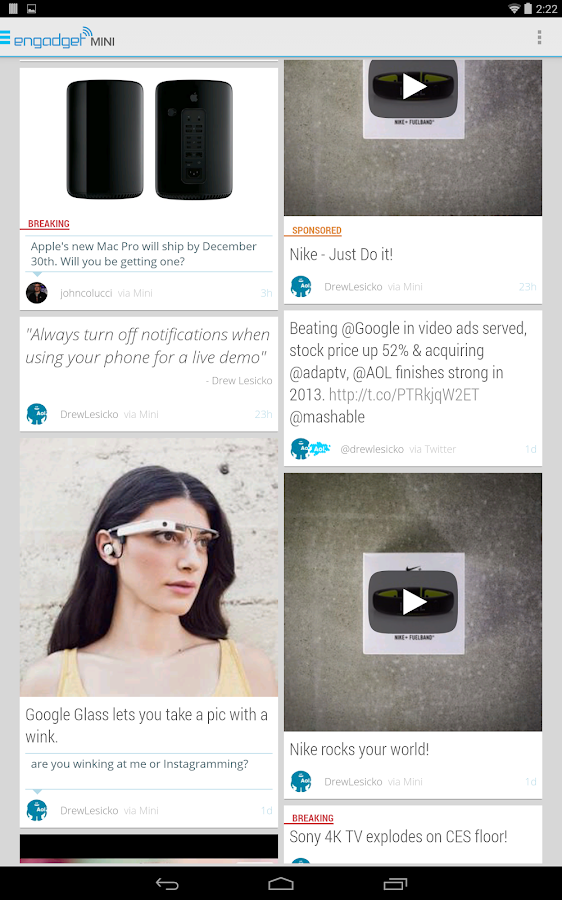 Engadget Mini - screenshot