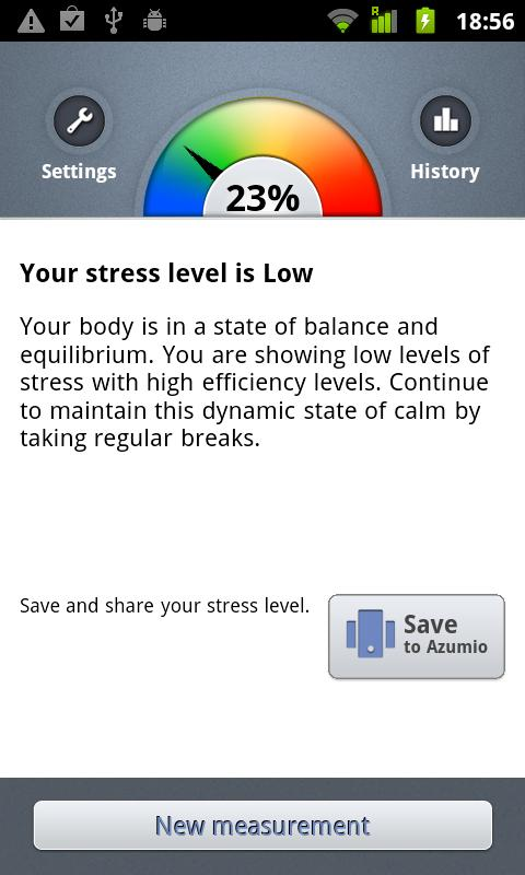 Stress Check by Azumio - screenshot