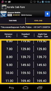 Kerala Cab Taxi Fare - screenshot thumbnail