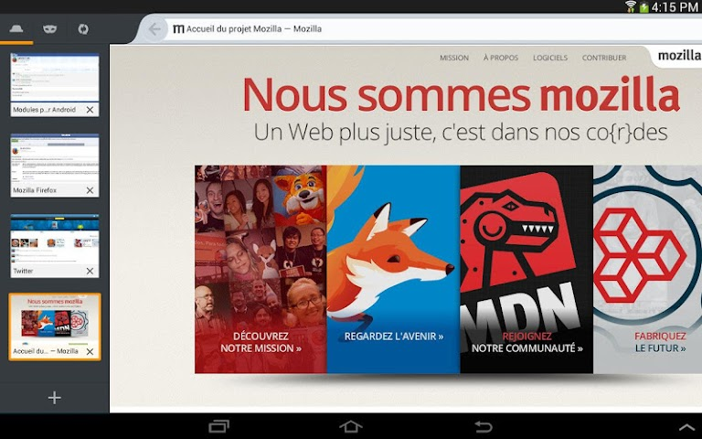 Screenshot 2 Internet-Browser Firefox