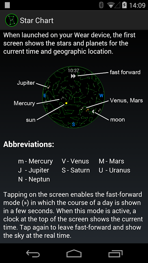 current star chart