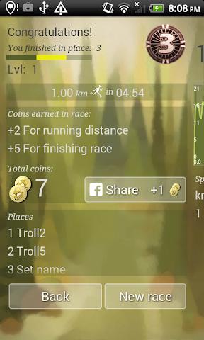 Screenshots for RunTroll