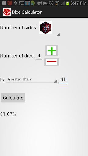 Dice Calculator