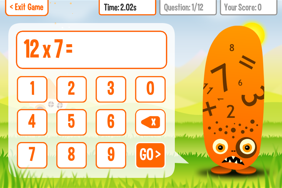 Squeebles Times Tables 2 - screenshot