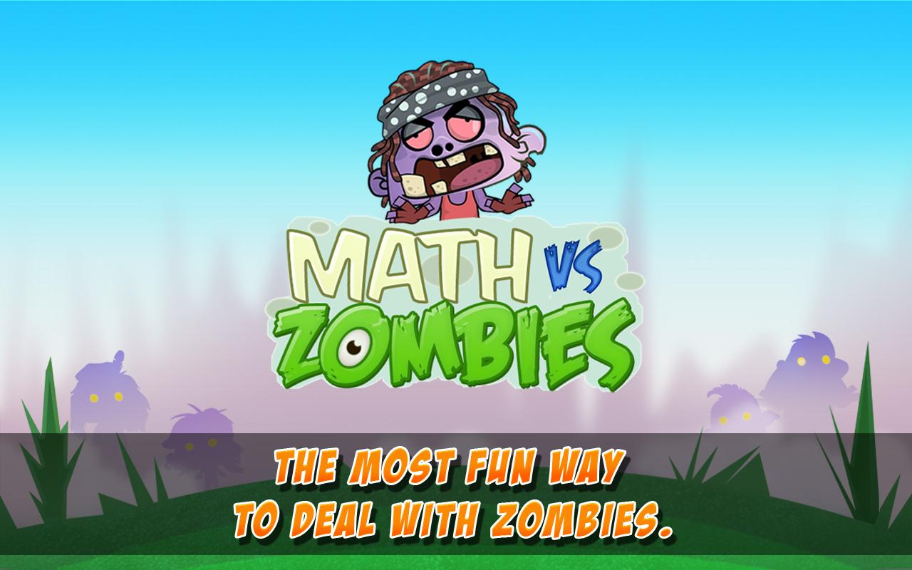 Math Vs Zombies Free: captura de pantalla