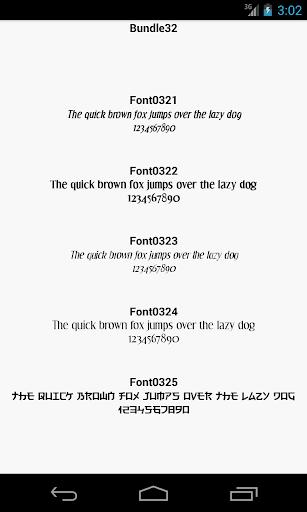 Fonts for FlipFont 32
