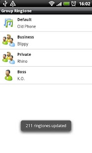 Group Ringtone Lite screenshot