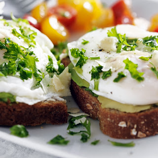 Michael Symon Poached Eggs on Avocado Toast