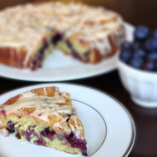 Blueberry and Jam Buttermilk Coffee Cake