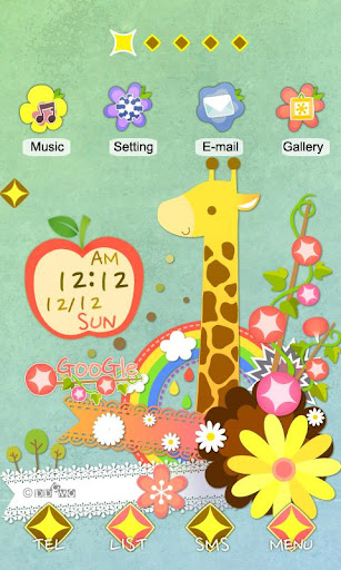 CUKI Theme Pretty Rainbow