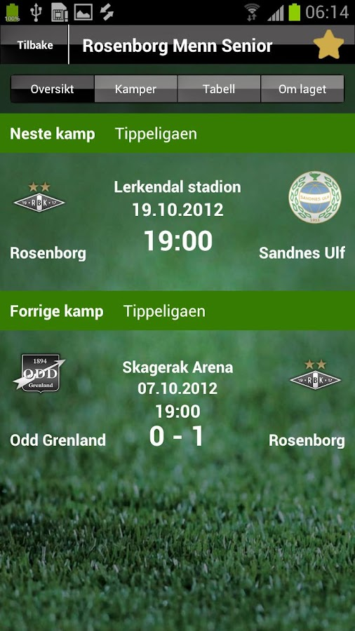 MinFotball- screenshot