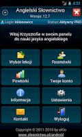 Screenshot of Angielski Slownictwo