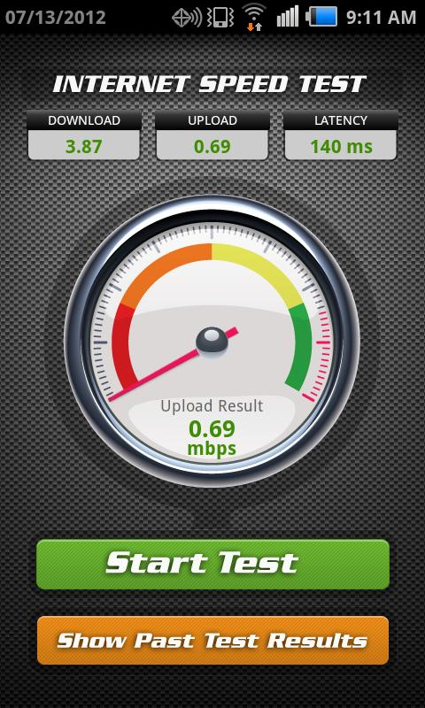 internet test: