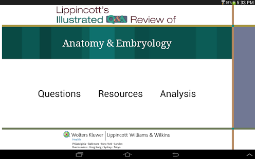 Anatomy Embryology Q&A Review screenshot for Android