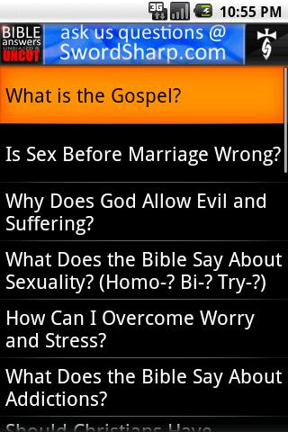 Bible Answers Unbiased & UNCUT- screenshot