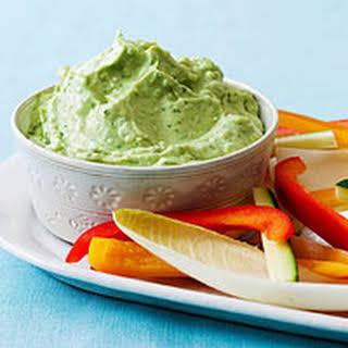 Creamy Avocado-Cilantro Dip.