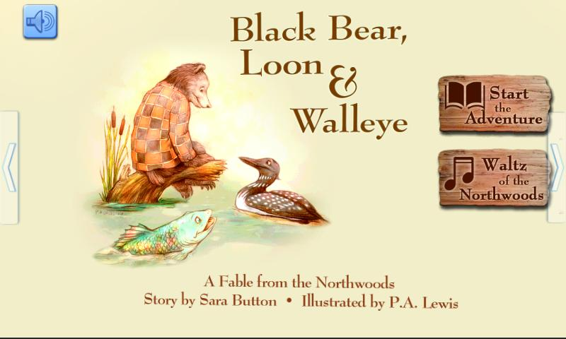 Black Bear, Loon and Walleye - screenshot