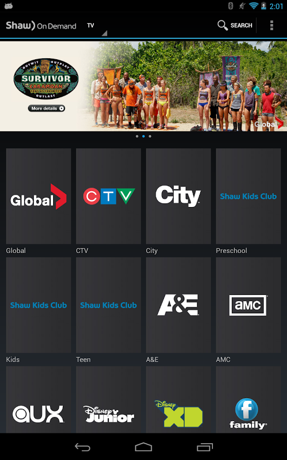 Shaw On Demand Search- screenshot