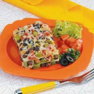 Black Bean Tortilla Casserole.