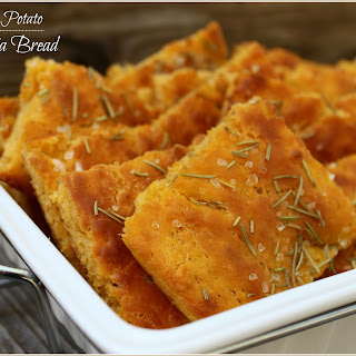 Sweet Potato Focaccia Bread.