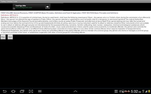【免費書籍App】Criminal Code of Turkey-APP點子