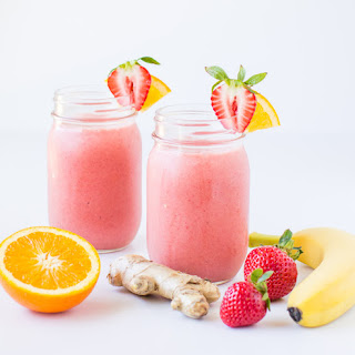 Strawberry Citrus and Ginger Smoothie.