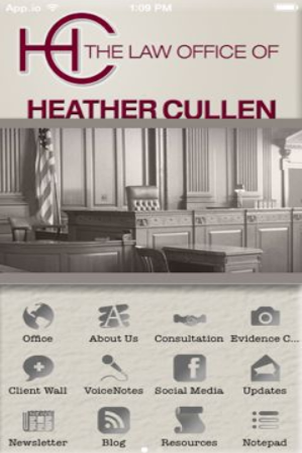 Heather Cullen Law- screenshot