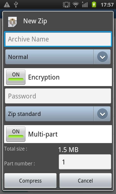 Easy Unrar, Unzip & Zip - screenshot