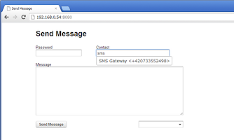 Screenshot of Send Message + SMS Server