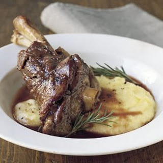 Braised Lamb Shanks with Rosemary.