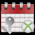 Leave Calendar Key icon